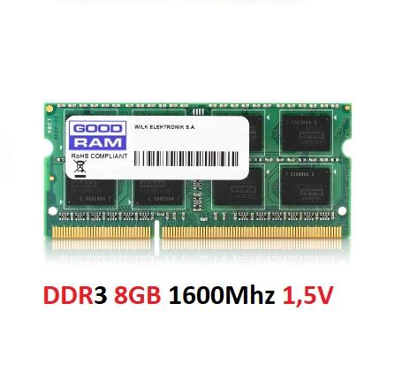 DDR3 8GB 1600Mhz 1,5V